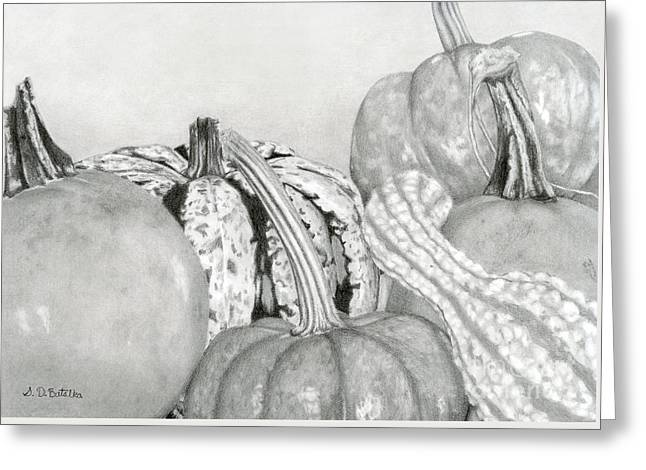 Autumn Harvest Greeting Card by Sarah Batalka