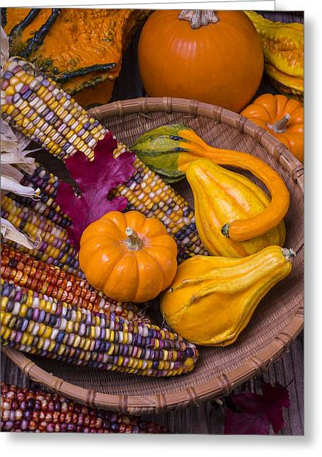 Autumn Harvest Still Life Greeting Card by Garry Gay