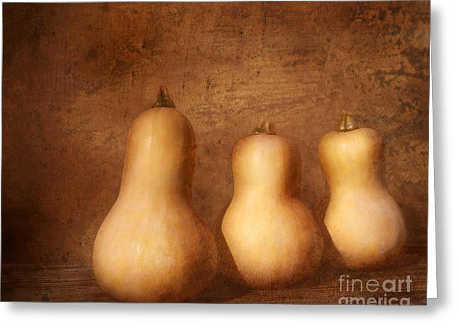 Autumn Harvest Still Life Greeting Card by Kathi Mirto