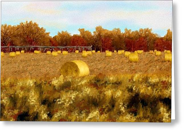 Autumn Hay Greeting Card
