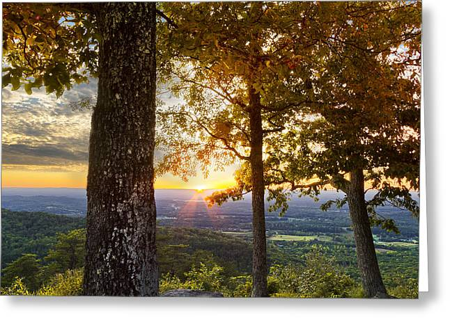 Autumn Highlights Greeting Card by Debra and Dave Vanderlaan