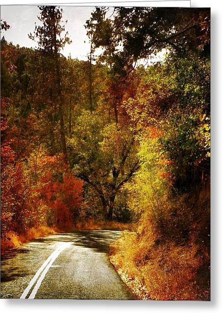 Autumn Highway Greeting Card