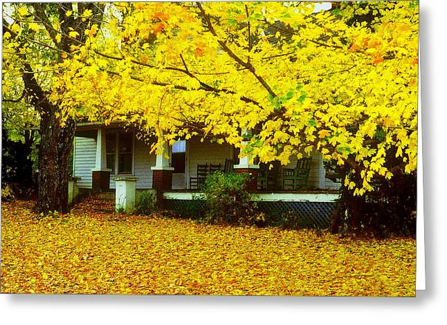 Greeting Card featuring the photograph Autumn Homestead by Rodney Lee Williams