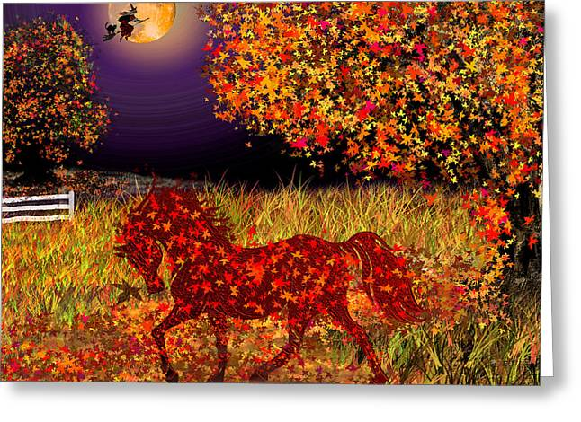Autumn Horse Bewitched Greeting Card