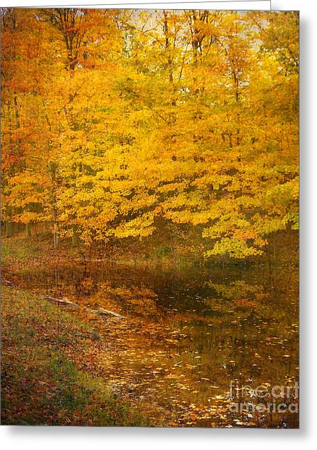 Autumn Impressions Greeting Card by Kathi Mirto