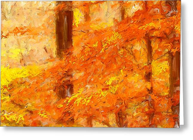 Autumn Impressions Greeting Card by Lourry Legarde