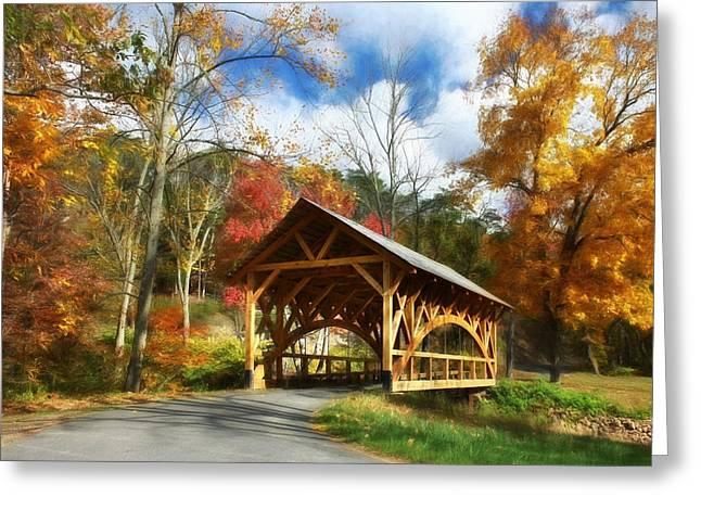 Autumn In Auburn Greeting Card by Lori Deiter