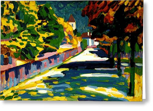 Autumn In Bavaria Greeting Card by Wassily Kandinsky