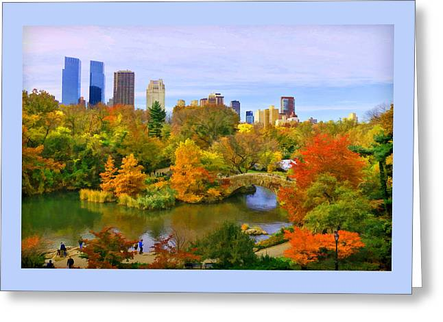 Autumn In Central Park 4 Greeting Card
