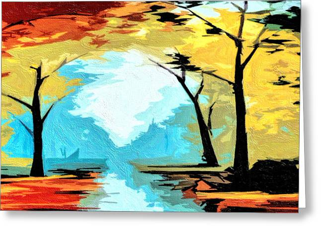 Autumn In D.c. Greeting Card