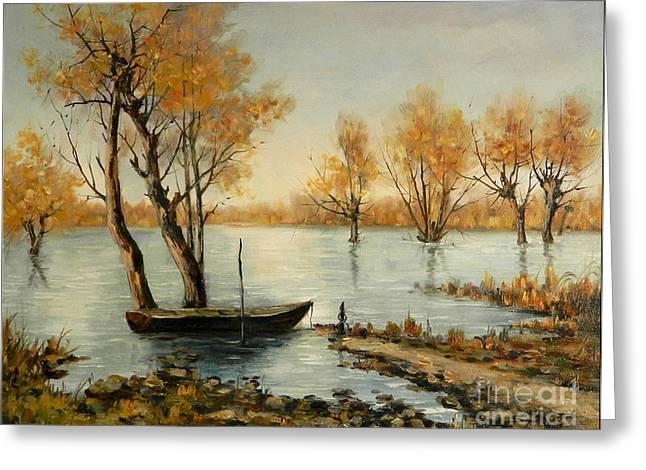Autumn In Delta Greeting Card by Petrica Sincu