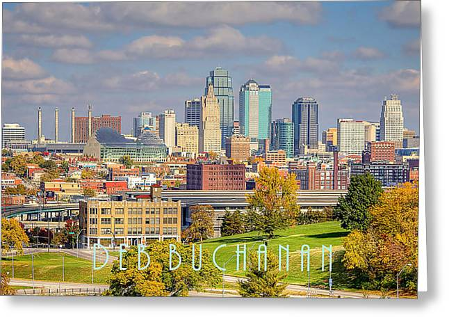Autumn In Kansas City With Logo Greeting Card
