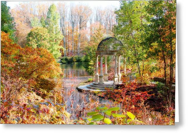 Autumn In Longwood Gardens Greeting Card by Trina  Ansel