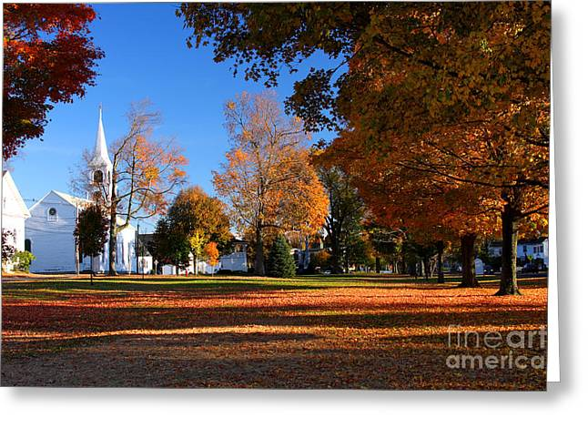 Autumn In Massachusetts Greeting Card
