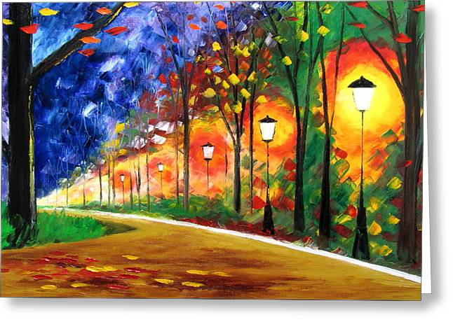 Autumn In My Heart Greeting Card