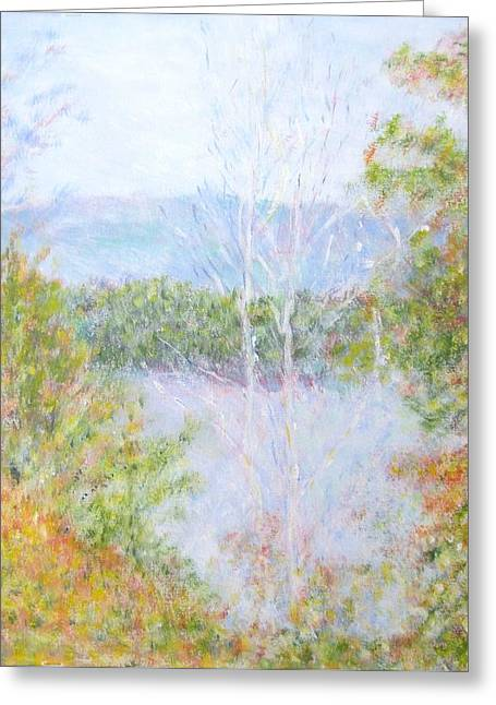 Autumn By The Lake In New Hampshire Greeting Card