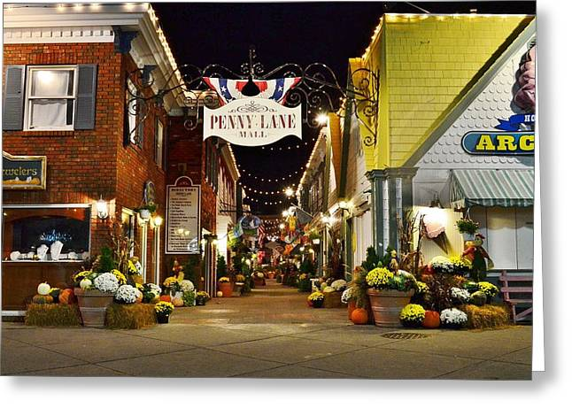 Autumn In Penny Lane - Rehoboth Beach Delaware Greeting Card