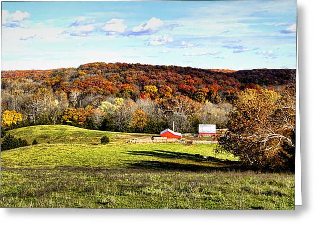 Autumn In The Country Greeting Card by Cricket Hackmann