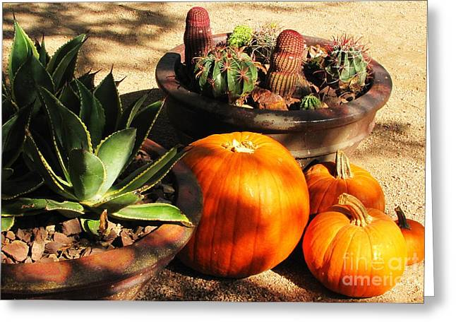 Autumn In The Desert Greeting Card by Marilyn Smith