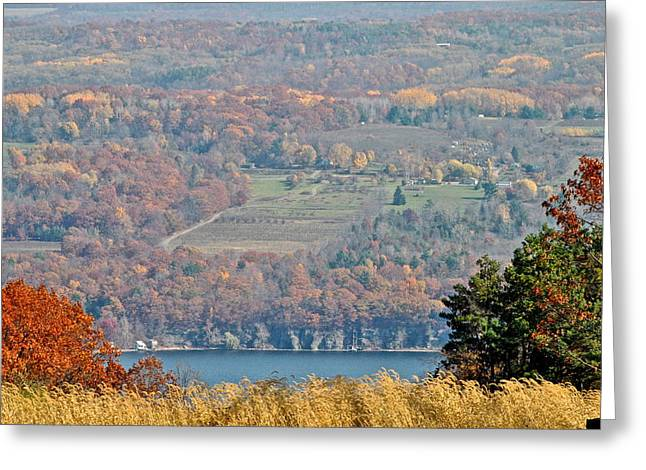 Autumn In The Finger Lakes Greeting Card by Frozen in Time Fine Art Photography