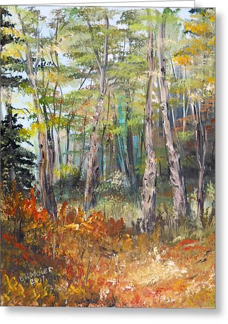 Autumn In The Forest Greeting Card by Dorothy Maier