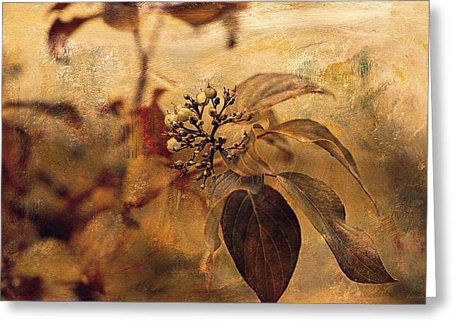 Autumn In The Garden  Greeting Card by Maria Angelica Maira