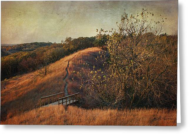 Autumn In The Loess Hills Greeting Card by Jeff Swanson