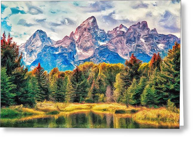 Autumn In The Tetons Greeting Card by Dominic Piperata