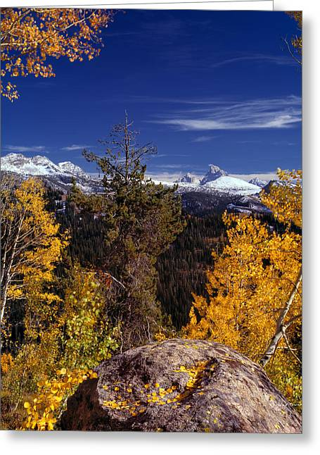 Autumn In The Tetons Greeting Card by Leland D Howard