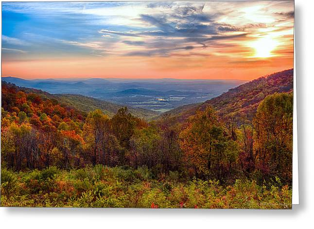 Autumn In Virginia Greeting Card by Phil Abrams