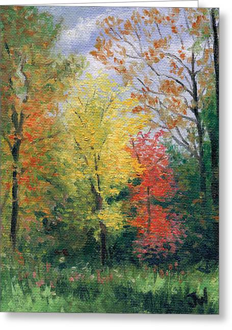 Greeting Card featuring the painting Autumn by Joe Winkler