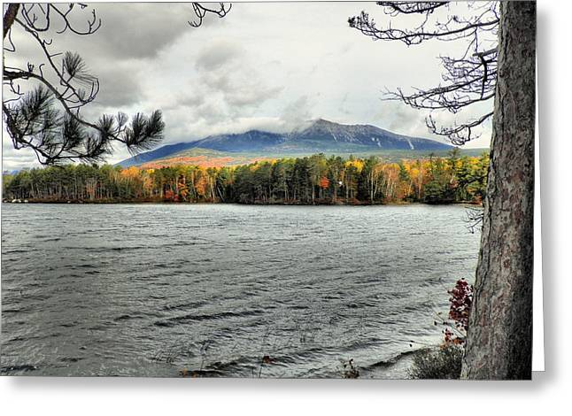Greeting Card featuring the photograph Autumn Katahdin by Gene Cyr