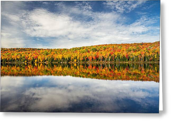 Autumn Lake Reflection Greeting Card by Pierre Leclerc Photography