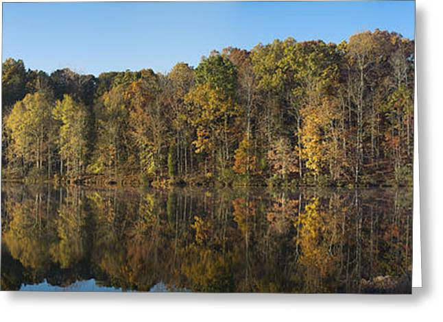 Autumn Lake View 1 Greeting Card by Patrick M Lynch