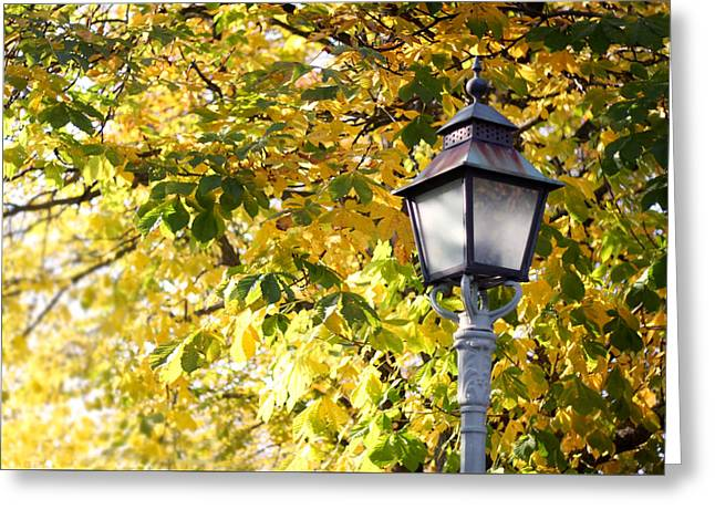 Autumn Lamp Post Greeting Card