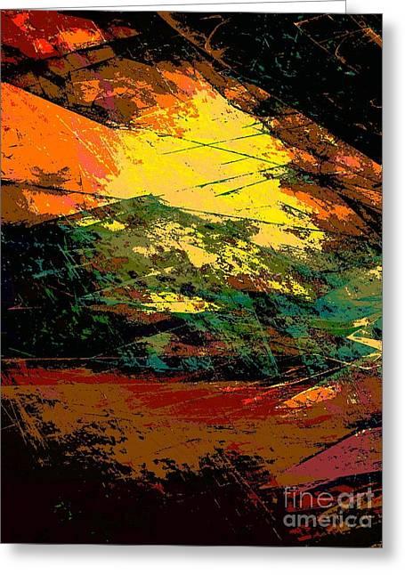Autumn Landscape Greeting Card by Klara Acel