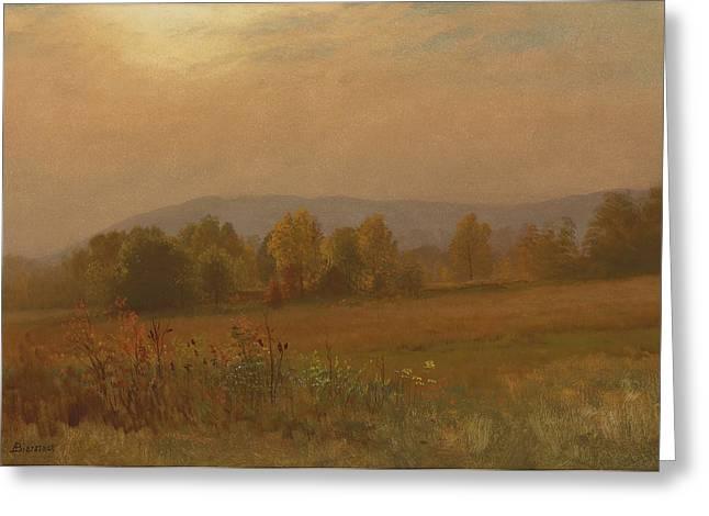 Autumn Landscape New England Greeting Card