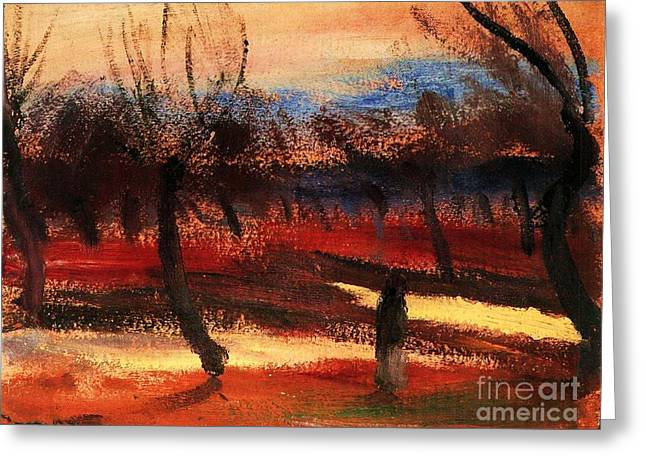 Autumn Landscape Greeting Card by Pg Reproductions