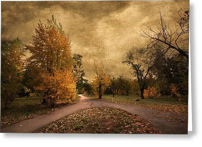 Autumn Landscape Greeting Card by Svetlana Sewell