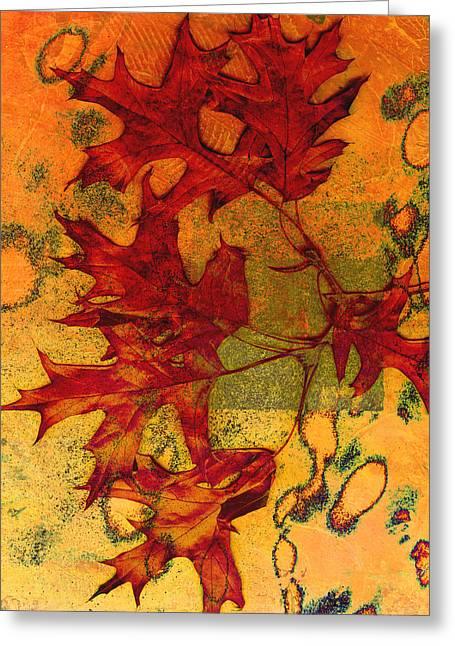 Autumn Leaves Greeting Card by Ann Powell