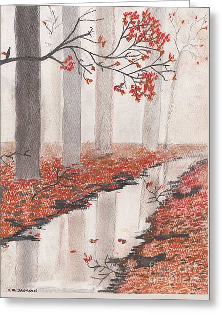 Autumn Leaves Greeting Card by David Jackson