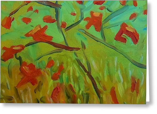 Autumn Leaves Greeting Card by Francine Frank