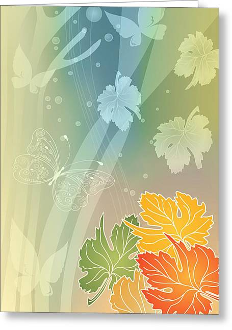 Autumn Leaves II Greeting Card by Gayle Odsather