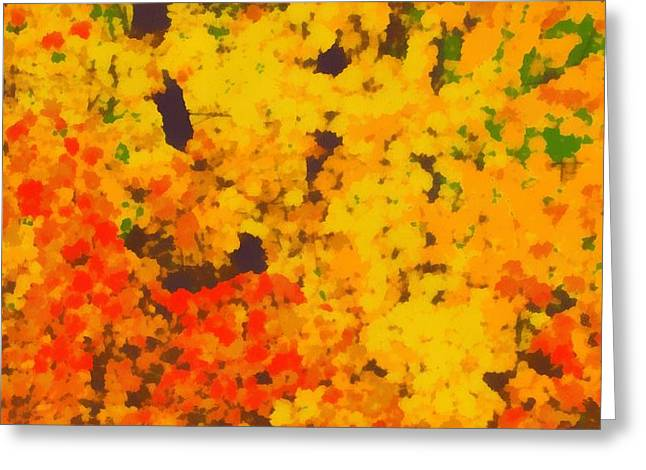 Autumn Leaves Pop Art Greeting Card