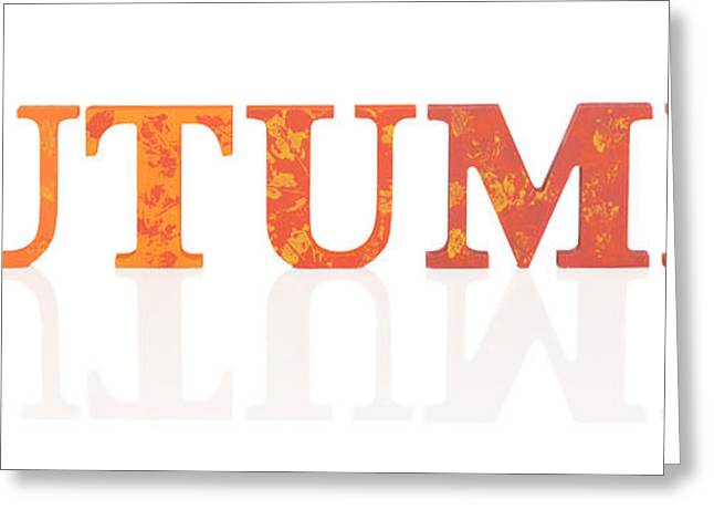 Autumn Letters Greeting Card by Amanda Elwell