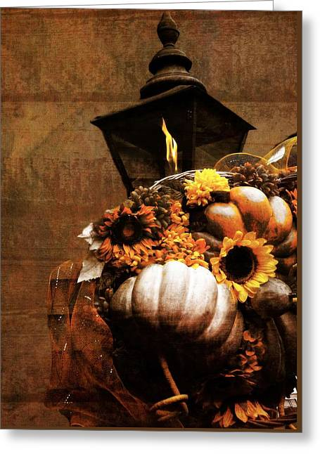 Autumn Light Post Greeting Card by Dan Sproul