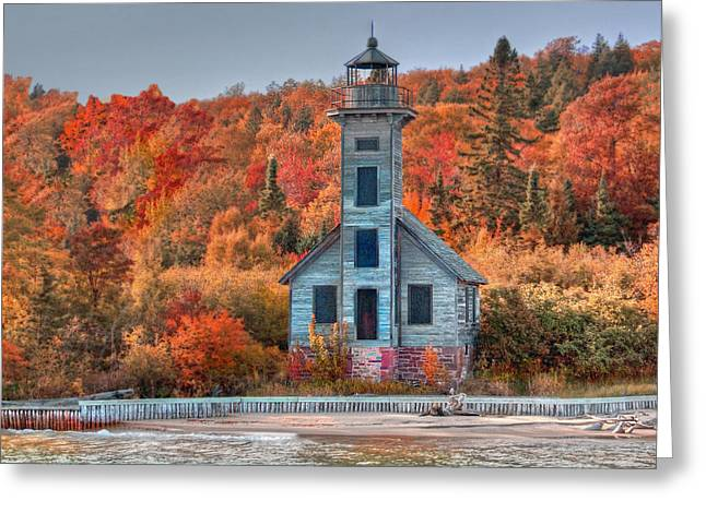 Autumn Lighthouse Greeting Card