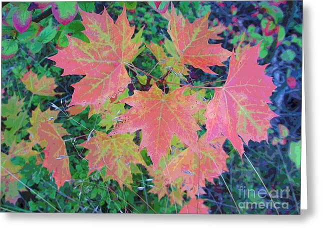 Autumn Loads It's Paintbrush Greeting Card