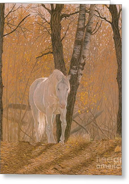 Autumn Magic Greeting Card by Laura Klassen