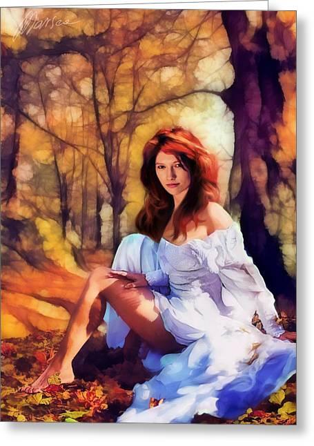 Autumn Greeting Card by Marina Likholat